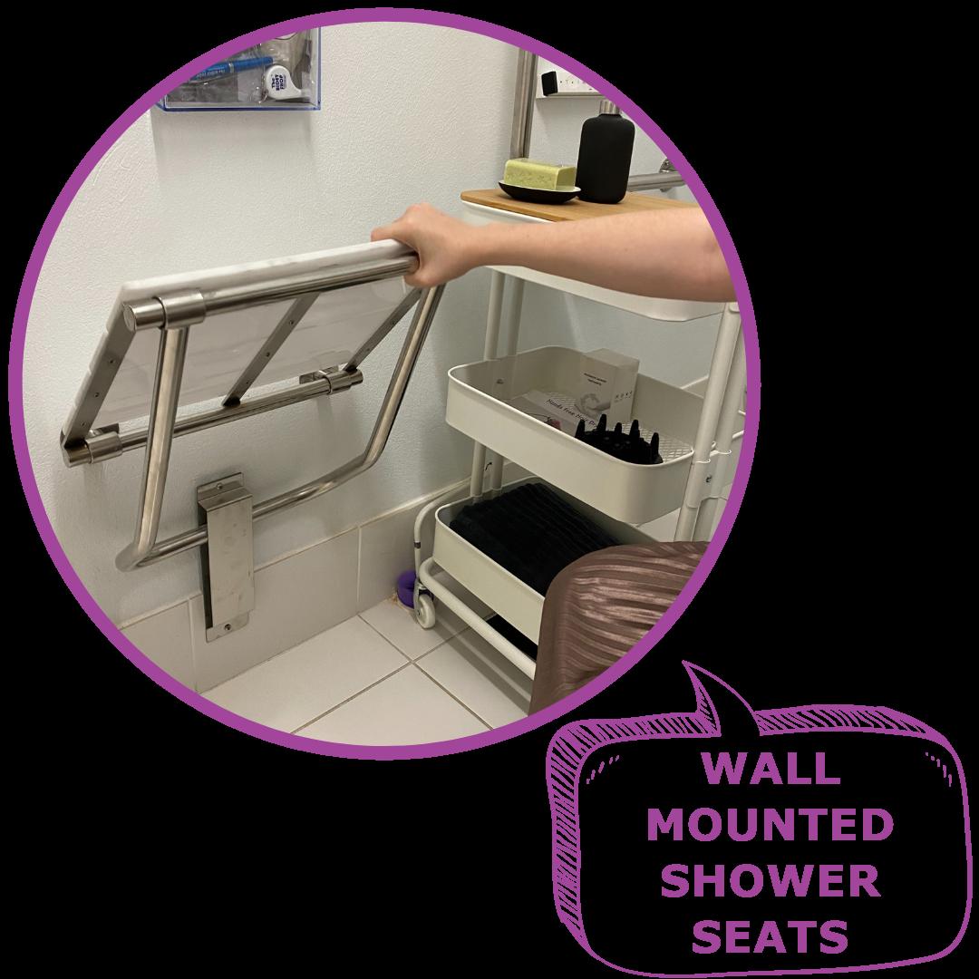 WALL MOUNTED SHOWER SEATS